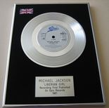 MICHAEL JACKSON - LIBERIAN GIRL PLATINUM single presentation Disc